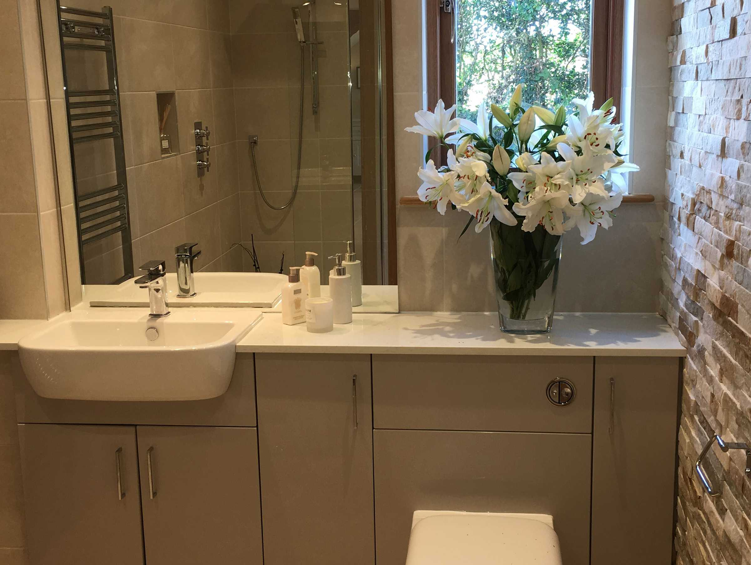 Neutral Stone Bathroom